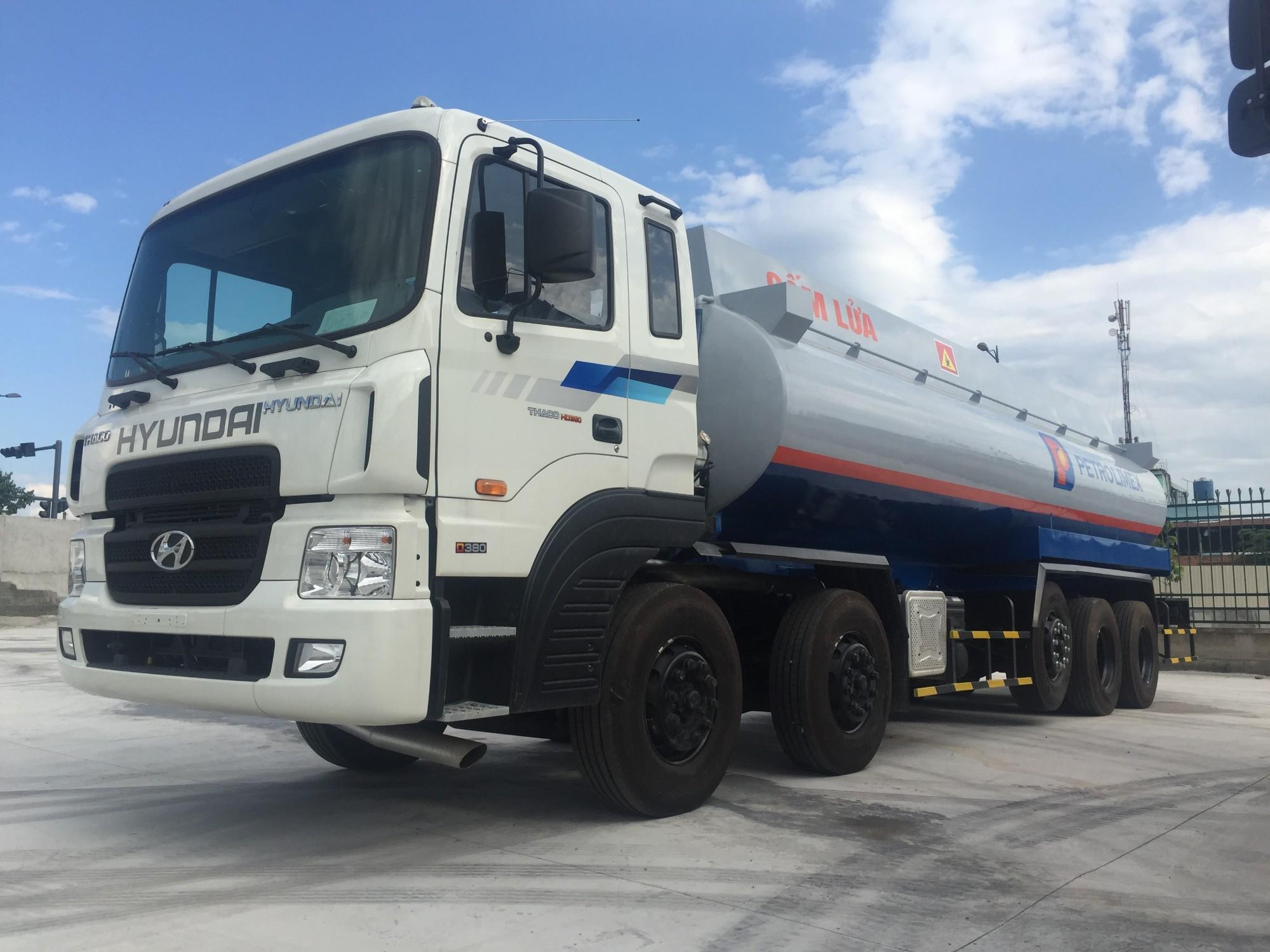 xe téc chở xăng dầu 29 khối Hyundai HD360