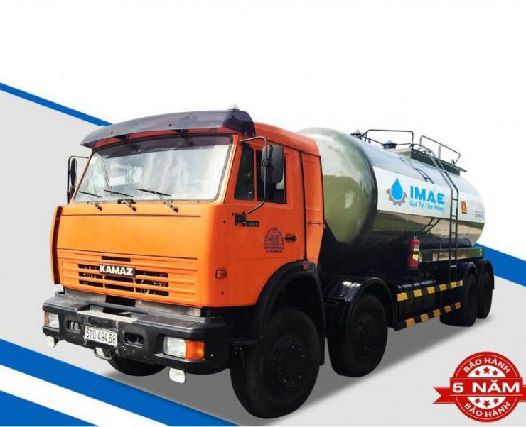 Đánh giá xe bồn chở xăng dầu Kamaz 25 khối mẫu mới 2019 tại IMAE