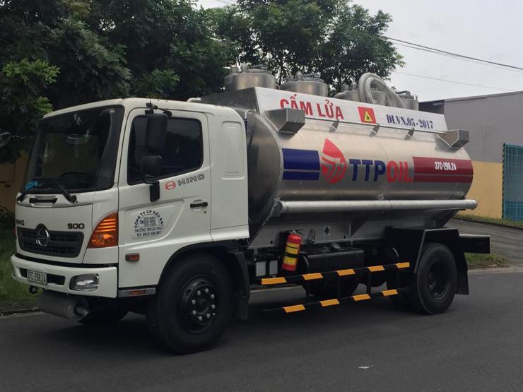 Xe bồn chở xăng dầu 12 khối HINO FG8JJSB - EURO 2
